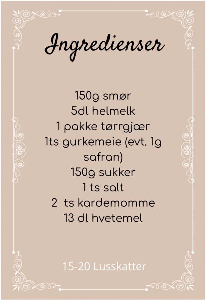ingredienser lussekatter