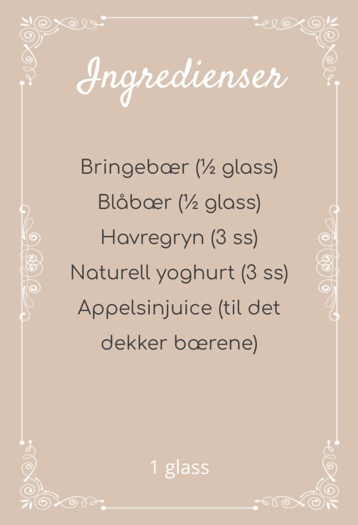oppskrift.smoothie.blåbær.bringebær.havregryn