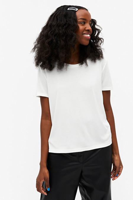 Hvit t-skjorte Monki - Matilda Djerf