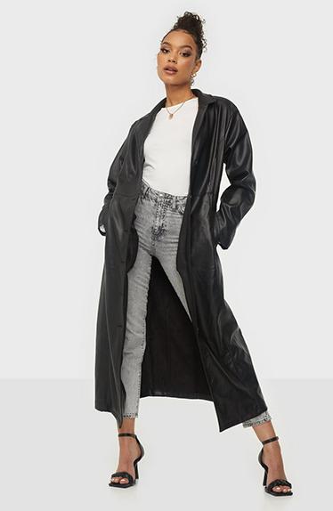Hailey Bieber Inspirert Leather Jacket